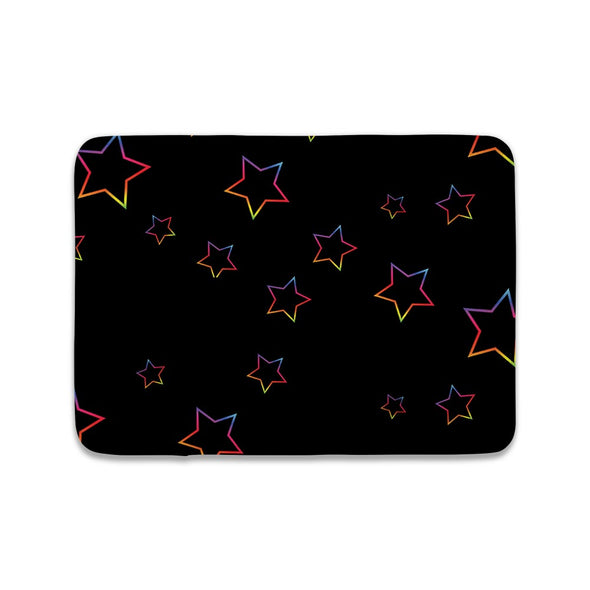 BLACK RAINBOW STARS MAT