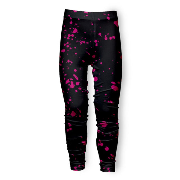 BLACK SPLATTER PINK LEGGING