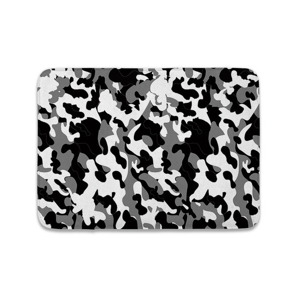 BLACK WHITE CAMO MAT