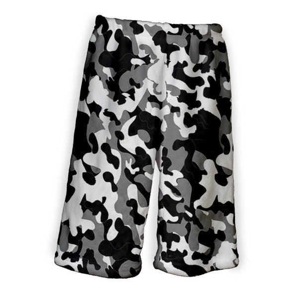 BLACK WHITE CAMO BERMUDA