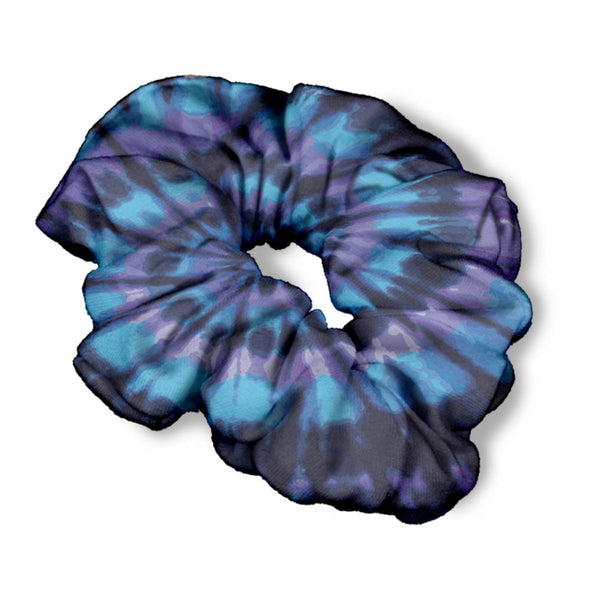 BLUE DYE SCRUNCHIE