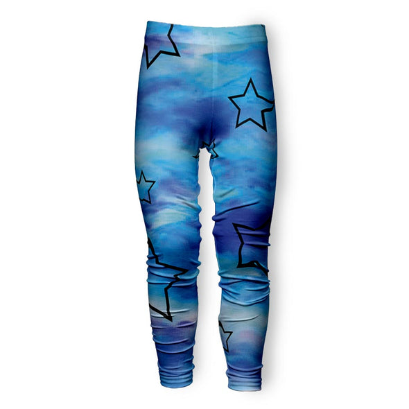 BLUE STAR TIE DYE LEGGING