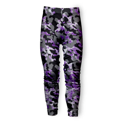 CAMO TIE DYE PURPLE LEGGING
