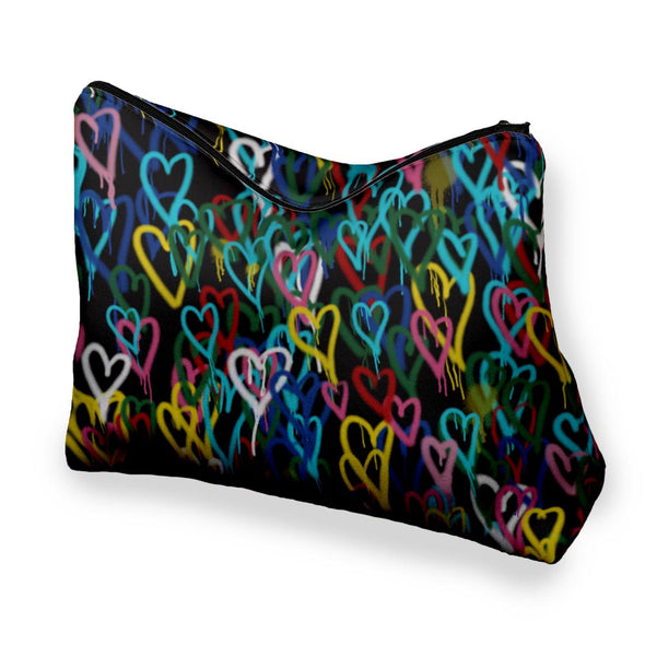 COLORFUL HEARTS COSMETIC BAG