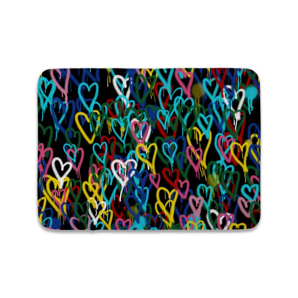 COLORFUL HEARTS MAT