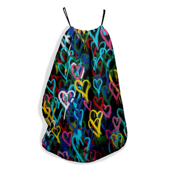 COLORFUL HEARTS SLING BAG