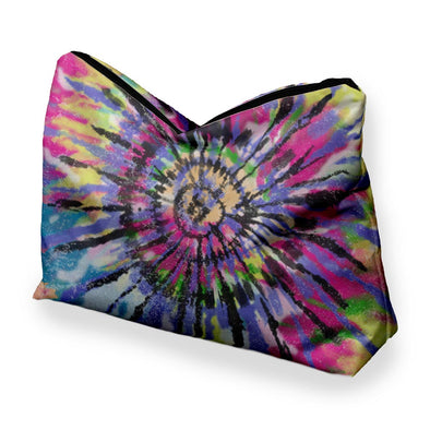 COLORFUL TIE DYE COSMETIC BAG