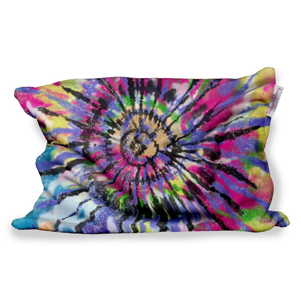 COLORFUL TIE DYE FUZZY PILLOW