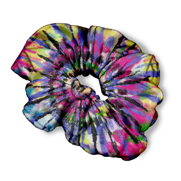 COLORFUL TIE DYE SCRUNCHIE