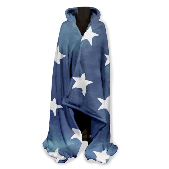 DENIM STAR HOODY BLANKET