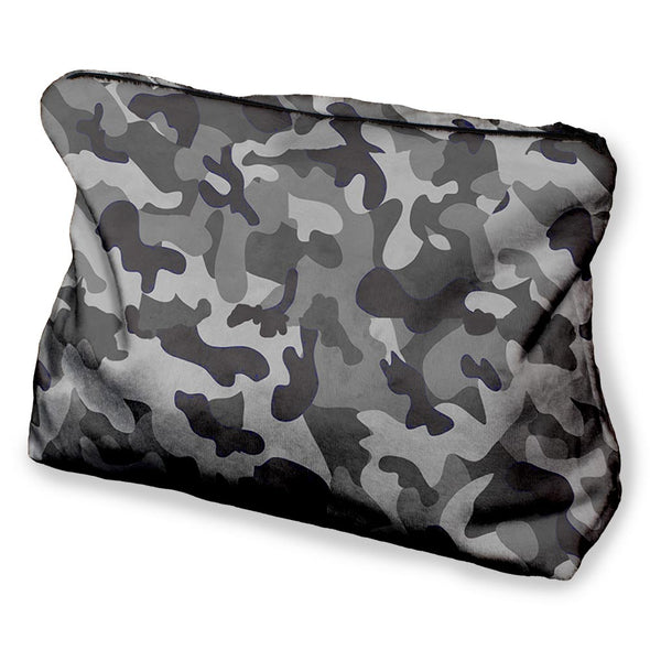 GREY CAMO COSMETIC BAG