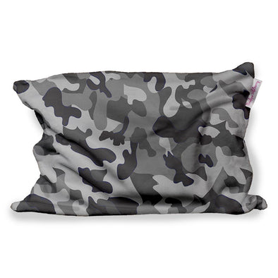 GREY CAMO FUZZY PILLOW