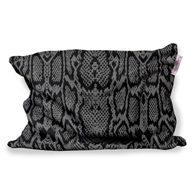GREY SNAKE SKIN FUZZY PILLOW