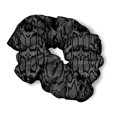 GREY SNAKE SKIN SCRUNCHIE