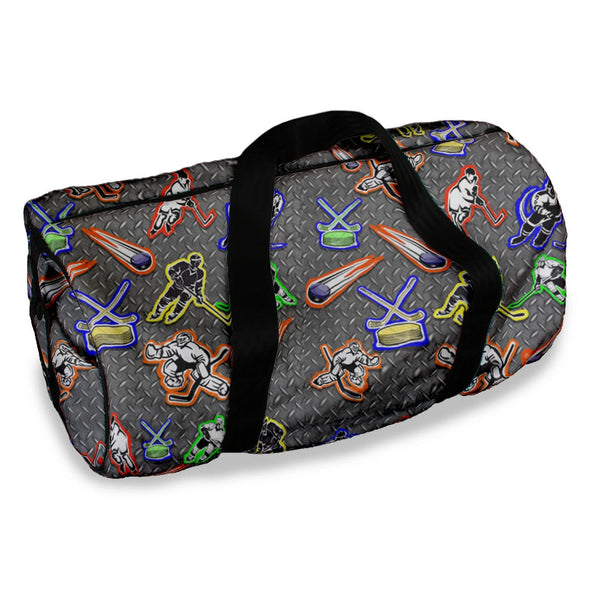 HOCKEY ON METAL DUFFLE BAG