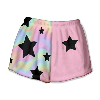 PASTEL TIE DYE STAR LOUNGE SHORT
