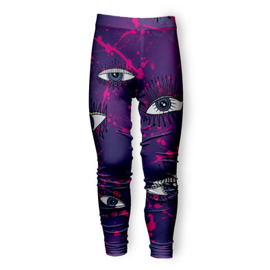 PINK SPLATTER EVIL EYES LEGGING