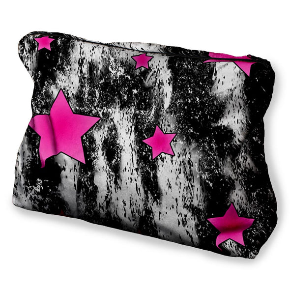 PINK STAR TIE DYE COSMETIC BAG