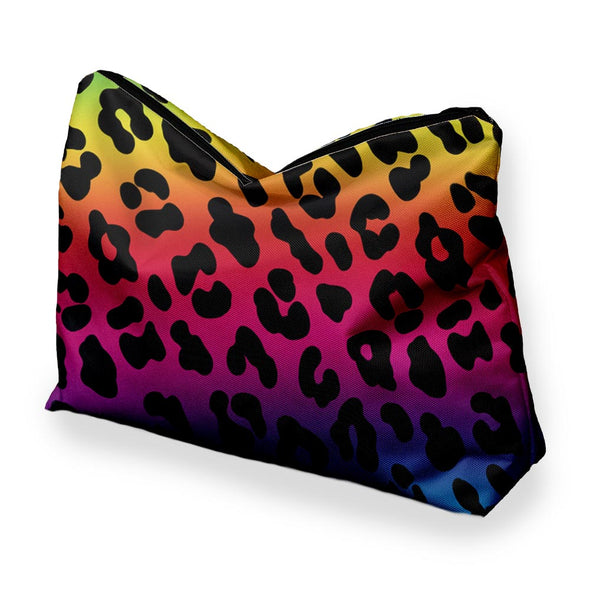 RAINBOW CHEETAH COSMETIC BAG