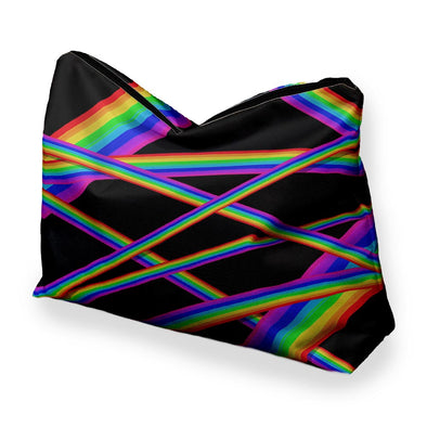 RAINBOW STRIPES COSMETIC BAG
