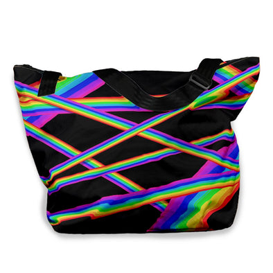 RAINBOW STRIPES VACAY TOTE