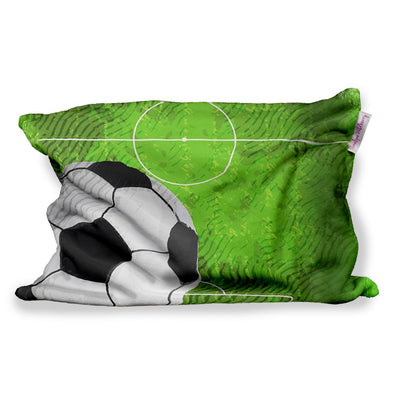 SOCCER FIELD FUZZY PILLOW