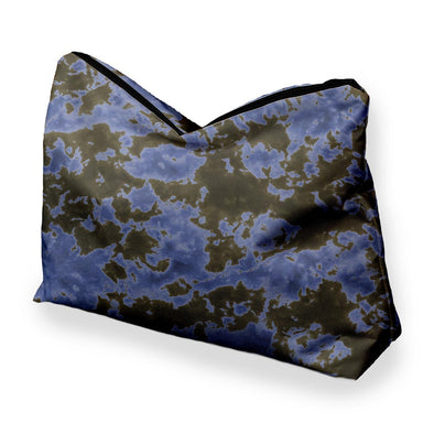 STORM CLOUD BLACK BLUE TIE DYE COSMETIC BAG