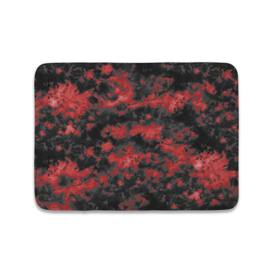 STORM CLOUD BLACK RED TIE DYE MAT