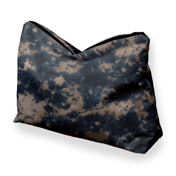STORM CLOUD NAVY BROWN TIE DYE COSMETIC BAG