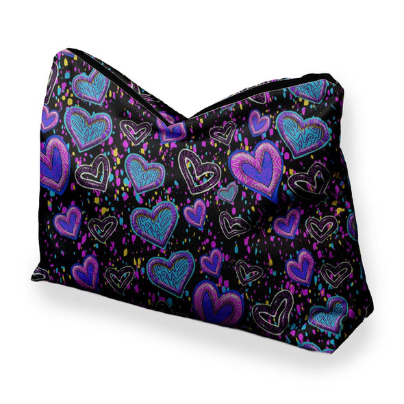 SWIGGLE HEARTS COSMETIC BAG