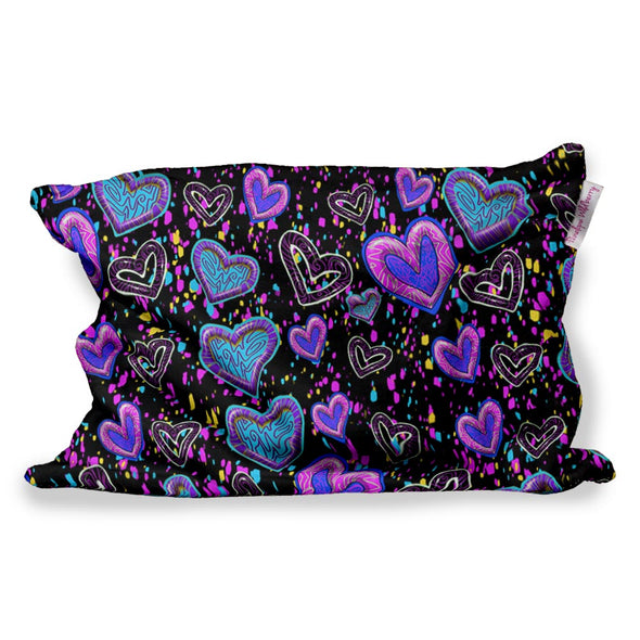 SWIGGLE HEARTS FUZZY PILLOW