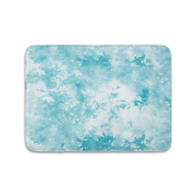 TIFFANY BLUE CLOUDS TIE DYE MAT