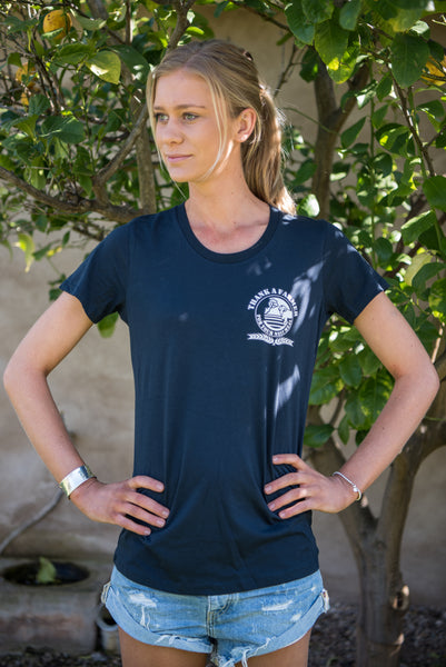 Navy Ladies Logo Tee