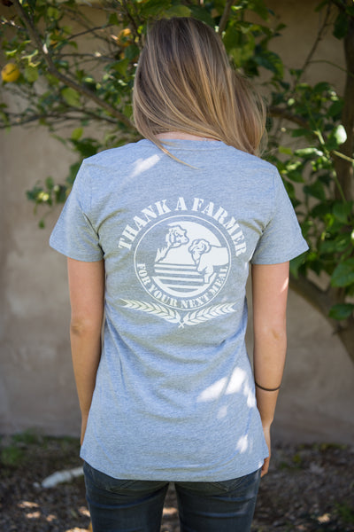 Grey Marle Ladies Logo Tee