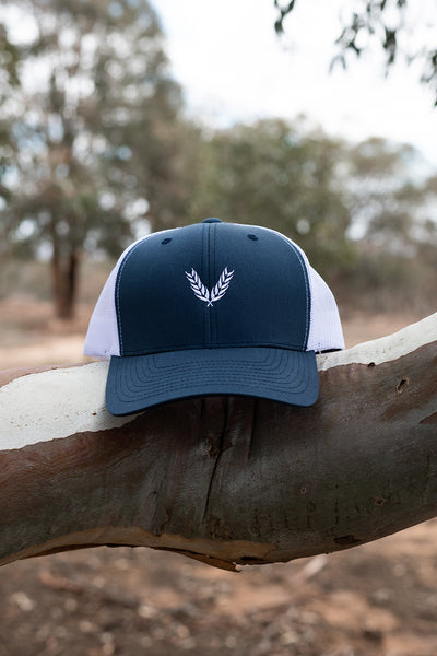 Retro Truckers - Navy & White
