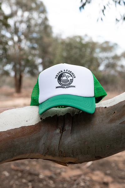 Truckers Cap - Green & White