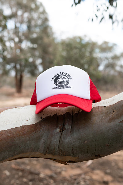 Truckers Cap - Red & White