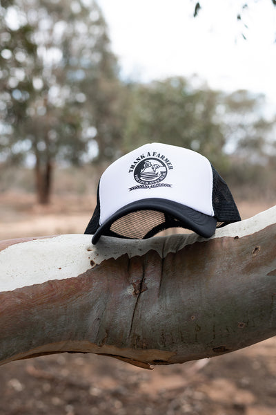 Truckers Cap - Black & White