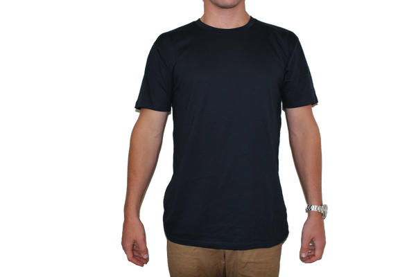 Navy Thank A Farmer Simple Logo Tee