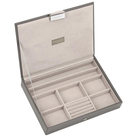 Stackers Mink & Grey Classic Lidded Jewellery Tray