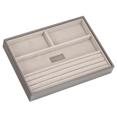 Stackers Mink & Grey Classic 4 Section Jewellery Tray