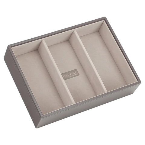 Stackers Mink & Grey Classic Deep 3 Section Jewellery Tray