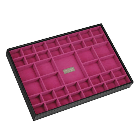Stackers Black & Fuchsia Supersize 41 Section Jewellery Tray