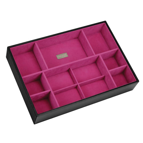 Stackers Black & Fuchsia Supersize Deep Sectioned Jewellery Tray
