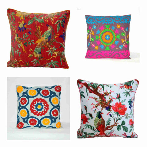 Decorative Suzani Pillows & Velvet Throw Pillows