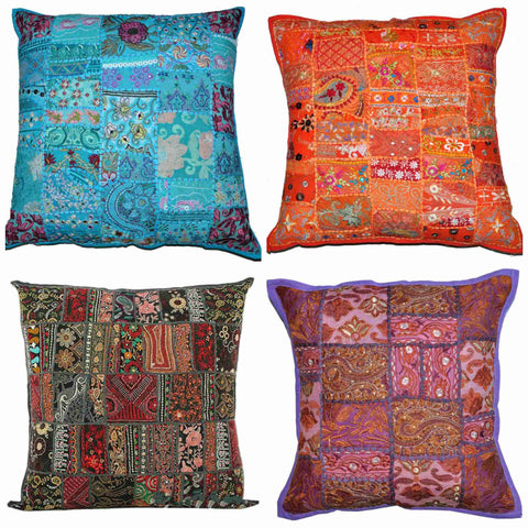 20X20 Indian patchwork throw pillows