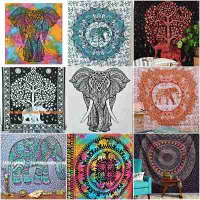 Elephant Tapestries Wall Hangings