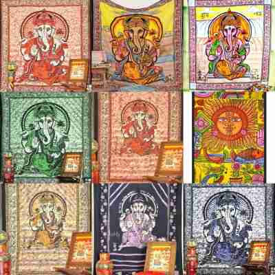 Indian Hindu Tapestries Wall Hangings