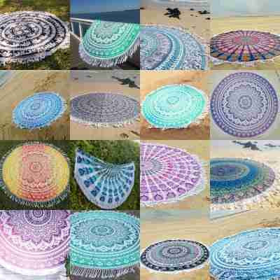 round wall tapestry | beach towels | mandala round tapestries