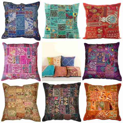 24X24 Vintage Patchwork Decorative throw pillows